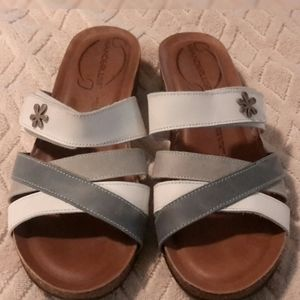 Wanderlust sandals with leather upper and …